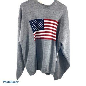 Faded Glory Vintage Oversized 4th of July Sweater